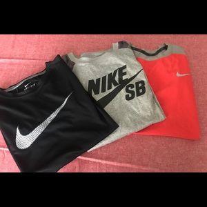 Nike boys M 3 pc lot bundle swoosh shirts shirt